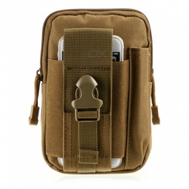 Outdoor Sports Running Cycling Wear-Resistant Waterproof Nylon Pocket Bag for Mobile Phone - Khaki