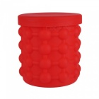 Silicone-Ice-Storage-Bucket-Space-Saving-Reusable-Ice-Cube-Maker-Kitchen-Tool-Genie-Cubes-Machine-Red