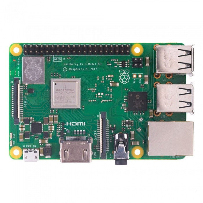 Geekworm Raspberry Pi 3 Model B+ (Plus) 2.4G/5G Wi-Fi Dual-Band Motherboard w/ Cortex-A53 1.4GHz CPU 64-Bit 1GB RAM PoE