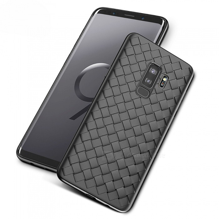 Measy Super Soft Phone Case Luxury Grid Weaving Case for Samsung Galaxy S9 Plus
