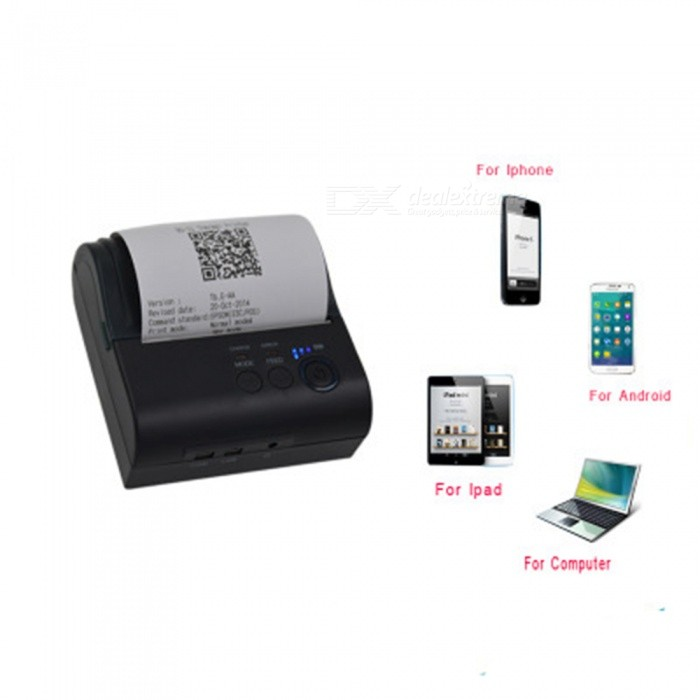 ESAMACT Portable USB 80mm Bluetooth Wireless Thermal Printer, POS Receipt Barcode Printer for iOS Android Windows