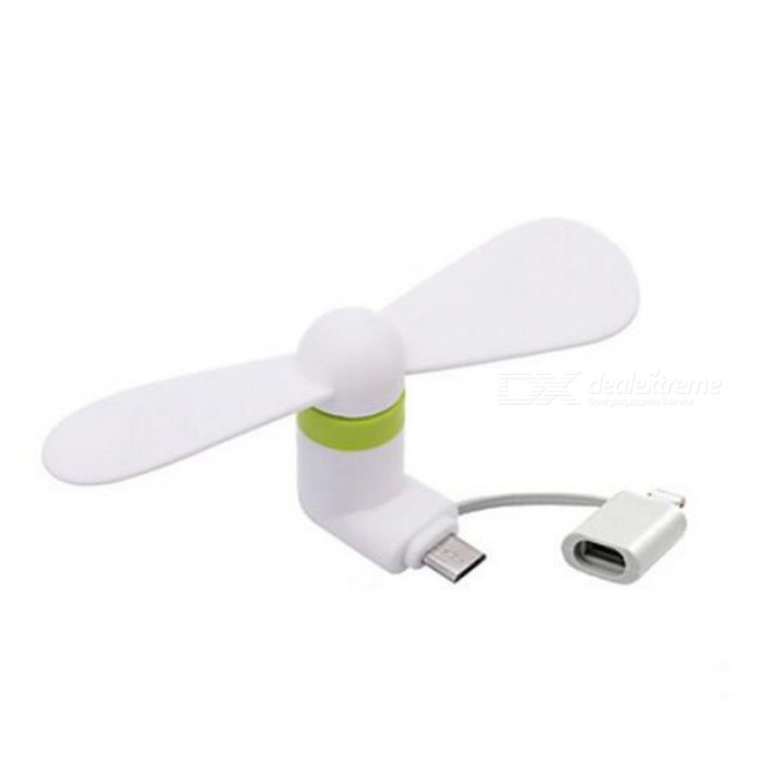 2-in-1 Mini Portable Fan for Android Phone or IPHONE