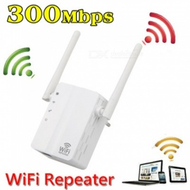 Wireless Wi-Fi Repeater 300Mbps Signal Range Extender Amplifier Mini WiFi 802.11n/b/g WLAN WPS Encryption - EU/US  Plug