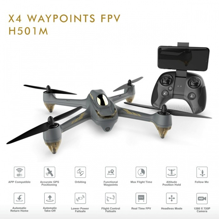 Hubsan H501M X4 Waypoint Wi-Fi FPV Brushless RC Drone Quadcopter with GPS, 720P HD Camera