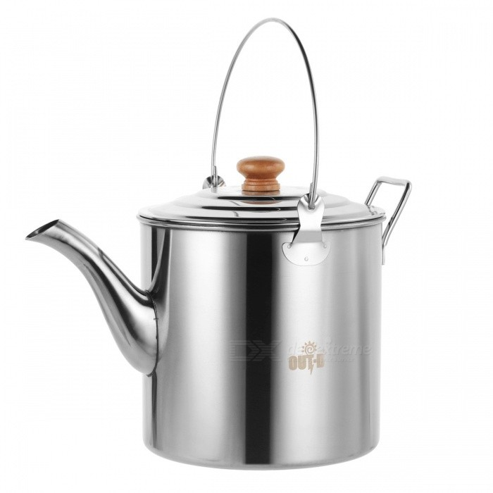OUT-D Camping Tea Kettle Coffee Pot Stainless steel 3L Outdoor Camp Hiking Kettle Teapot Kettle