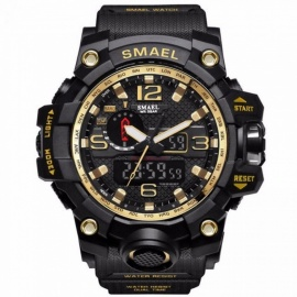 SMAEL-Sport-Watches-For-Men-Waterproof-Digital-Watch-LED-Mens-Wristwatch-Clock-Man-1545-Montre-Homme-Big-Men-Watches-Gold