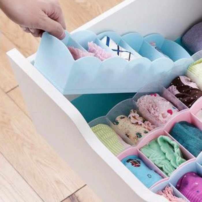 Buy Multifunctional Five Grid Desktop Drawer Storage Box Organizer Box Bedroom Office Sorting Box Purple/1-5 Cells with Litecoins with Free Shipping on Gipsybee.com