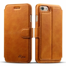 Measy-Ultra-Slim-Premium-PU-Leather-Wallet-Case-with-Kickstand-Card-Holder-and-ID-Slot-for-IPHONE-66S-Light-Brown