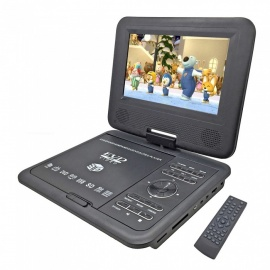 78-TFT-270-Degrees-Rotating-Portable-DVD-Player-with-Game-FM-Radio-Function-Black