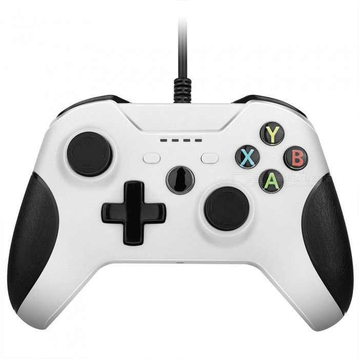 Buy Miimall USB PC Gaming Controller, Wired Joysticks Gamepad for XBOX ONE/ XBOX ONE X - White with Litecoins with Free Shipping on Gipsybee.com