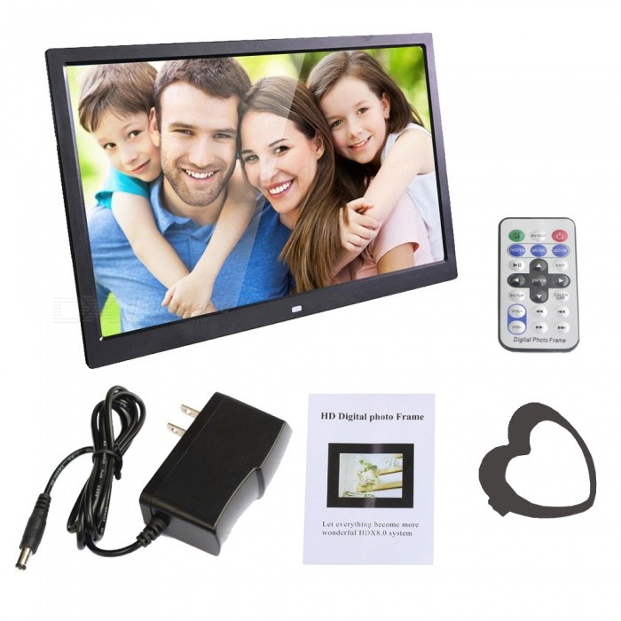 XSUNI 12 Inches Digital Photo Frame w/ LED Backlight, Full Function HD 1280 x 800 Electronic Video Album