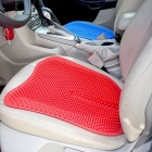 Qook-18-Inches-Silica-Gel-Car-Seat-Cushion-Round-Non-Slip-Chair-Pad-for-Office-Truck-Home-Red