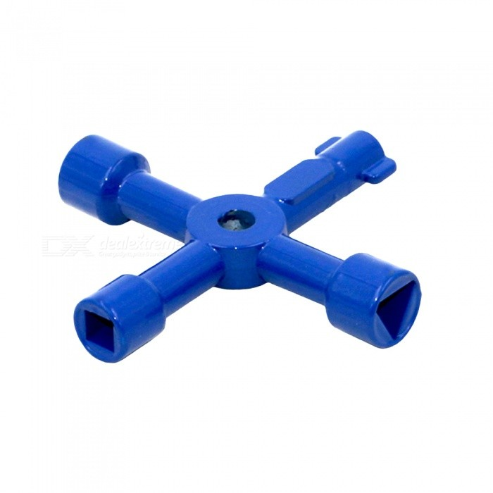 Buy 4-in-1 Electric Control Cabinet Wrench Cross Key Wrench - Blue with Litecoins with Free Shipping on Gipsybee.com