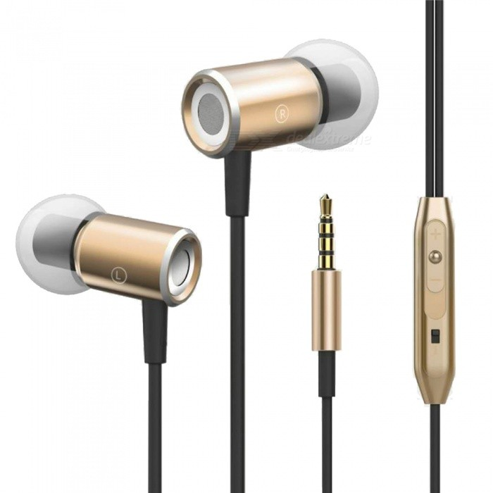 Magnetic Absorption Music Stereo Headphones Noise Cancelling Headphones In-Ear Mic