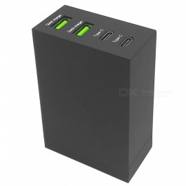 5V-10A-2-USB-2b-2-Type-C-Quick-Charger-for-IPHONE-8-X-Table-SamSung-XiaoMi-EU-Plug
