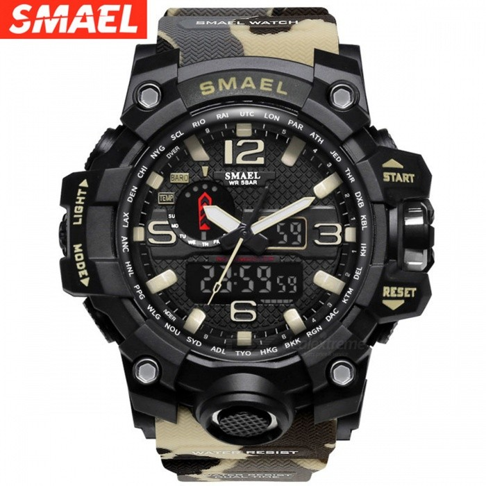 Military Watch Digital SMAEL Brand Watch S Shock Men's Wristwatch Sport LED Watch Dive 1545B 50m Wateproof Fitness Sport