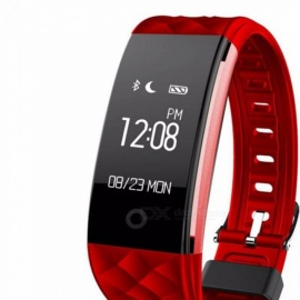 S2 Bluetooth Smart Wristband Smartband with Heart Rate Monitor, IP67 Sport Fitness Tracker Bracelet for Android IOS