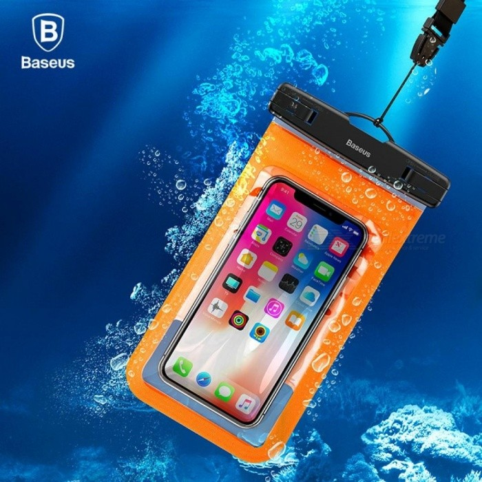 Buy BASEUS Brand 20M Max Waterproof Case Bag For IPhone 6s 6 / 6s Plus, Below 6.0 Inch Cell Phone Dark Blue with Litecoins with Free Shipping on Gipsybee.com