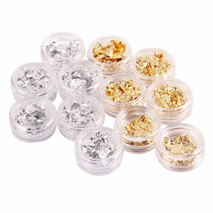 Real Dried Flowers For Christmas Nailart Jewelry Of Nail Art Decorations 3D Packed In Long Box Multi