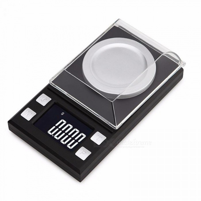 50g/0.001g LCD Digital Jewelry Scales Lab Weight High Precision Scale Medicinal Use Portable Mini Electronic Balance Black