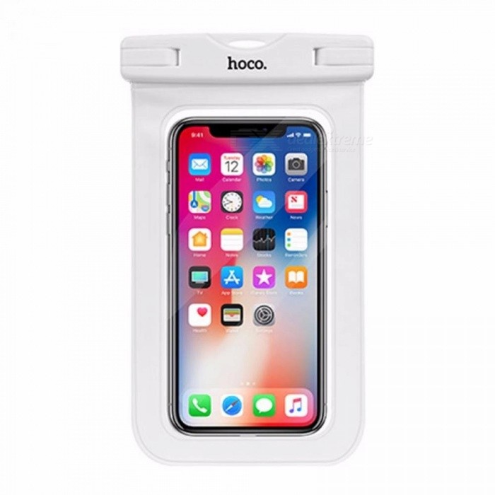Buy HOCO Waterproof Bag Air Bag Design Mobile Phones Universal Clear Case Sealed Phone Pouch With Strap For Below 6.5 White with Litecoins with Free Shipping on Gipsybee.com