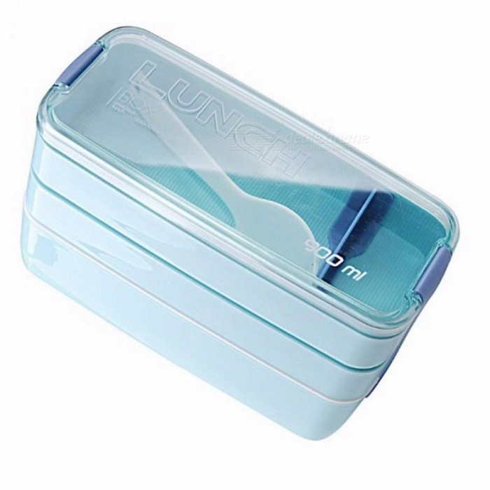 Hot Sales 900ml Portable 3 Layer Healthy Lunch Box Food Container Microwave Lunch Boxes Bento Lunchbox Pink/Other