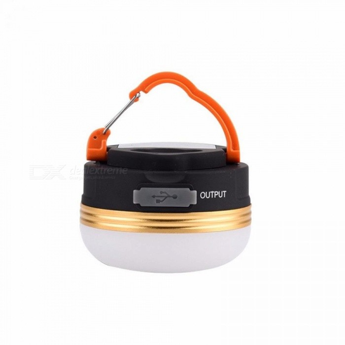 Buy Camp Lights Lamp Mini Portable LED Camping Lantern Waterproof Tents Lamp Outdoor Hiking Night Hanging Lamps USB Recharge 3W/Black with Litecoins with Free Shipping on Gipsybee.com