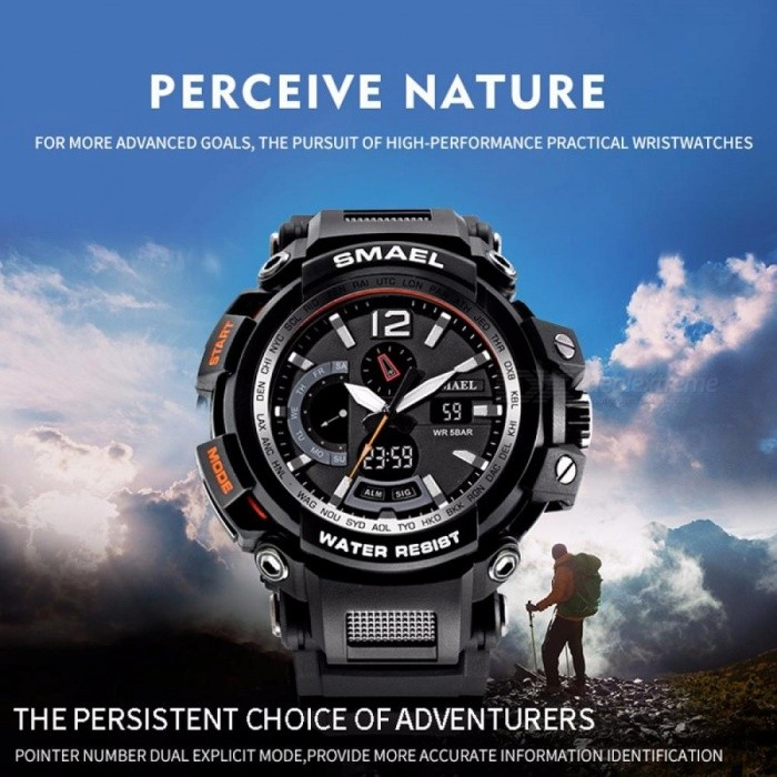 SMAEL Men Top Brand Electronic LED Digital Wrist Watches For Male Sport Watch Men Military Clock Relogio Masculino