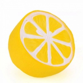 10CM Lemon Squishy Slow Rising Soft Squeeze Cute Phone Strap Relieves Stress Anxiety Funny Toy Gift