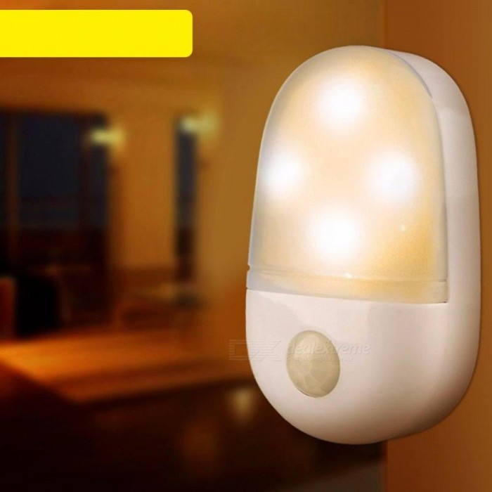Buy Smart LED Night Light Human Body Infrared Induction PIR Mini Cabinet Light Lamp White with Litecoins with Free Shipping on Gipsybee.com