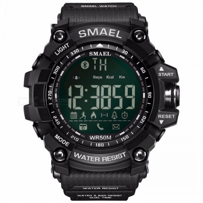 SMAEL Luxury Brand Smart Watch with BT Call / SMS / Twitter / Facebook / Whatsapp / Skype Reminder / Sports Steps Counting