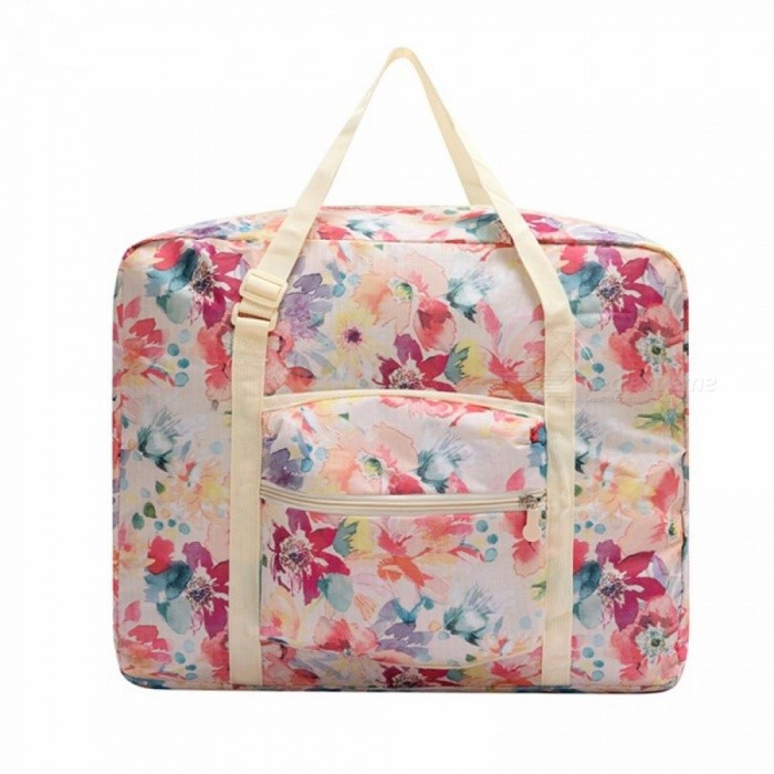 Buy Floral Pattern Luggage Travel Bags Carry On Luggage Portable Folding Women Suitcase Luggage Large Capacity Storage Pink with Litecoins with Free Shipping on Gipsybee.com