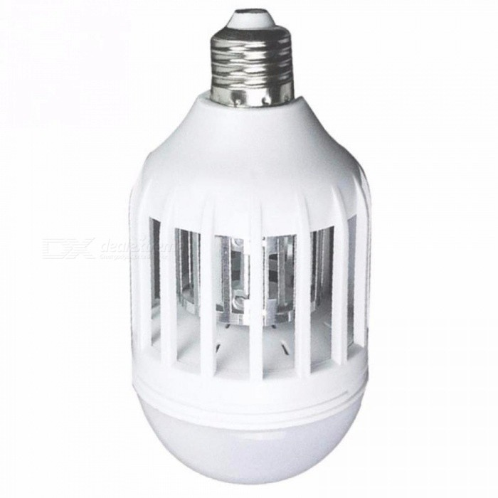 Dx coupon: 2-Mode E27 LED Mosquito Killer Lamp Bulb Electric Trap Light Electronic Anti Insect Bug Wasp Pest Fly White/Blue