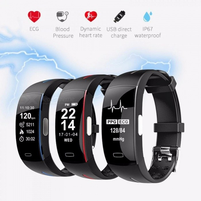 P3 Smart Bracelet With Blood Pressure Heart Rate Monitor  Activity Tracker GPS Smart Watch IP67 Waterproof