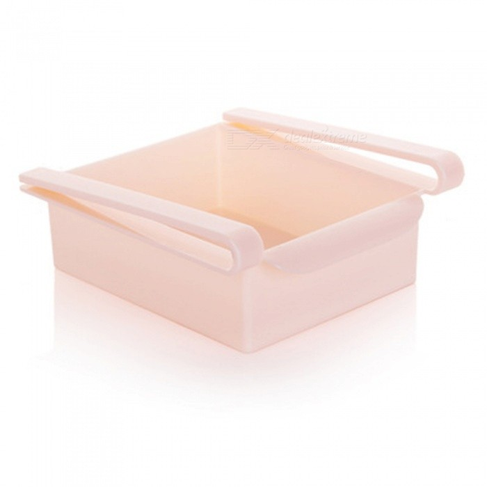 Slide Rake Freezer Food Storage Boxes Pantry Storage Organizer Bins Container Space-saving Fridge Storage Case Pink