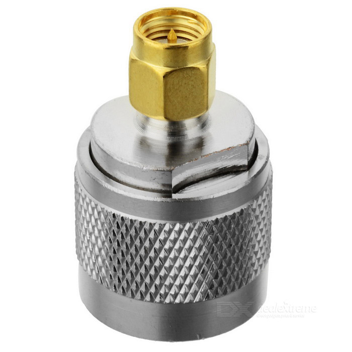 N-Cable Male to SMA-Cable Male Adapter Plug - Silver