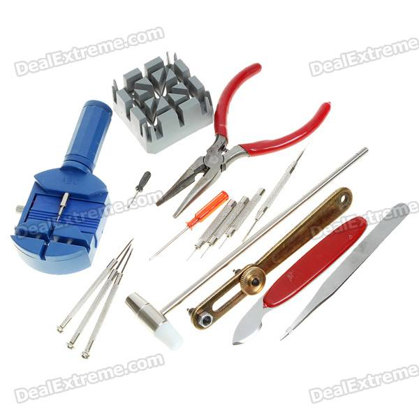 Buy Professional Set of 16 Tool Kits for Watch Repair with Litecoins with Free Shipping on Gipsybee.com