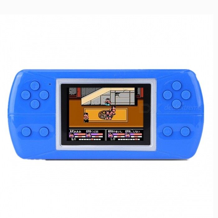 3.5-inch Color Children\'s Handheld Game Console Built-in 380 Different Games Video Game Children\'s Gifts Blue