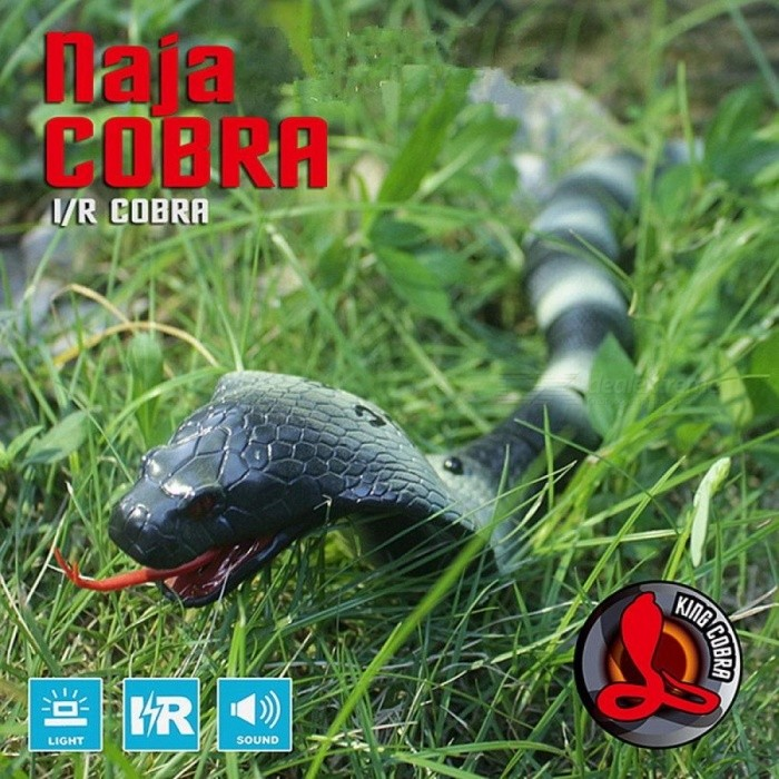 Infrared Remote Control RC Snake Toy Cobra Funny Gadgets Jokes Simulation Animal Prank
