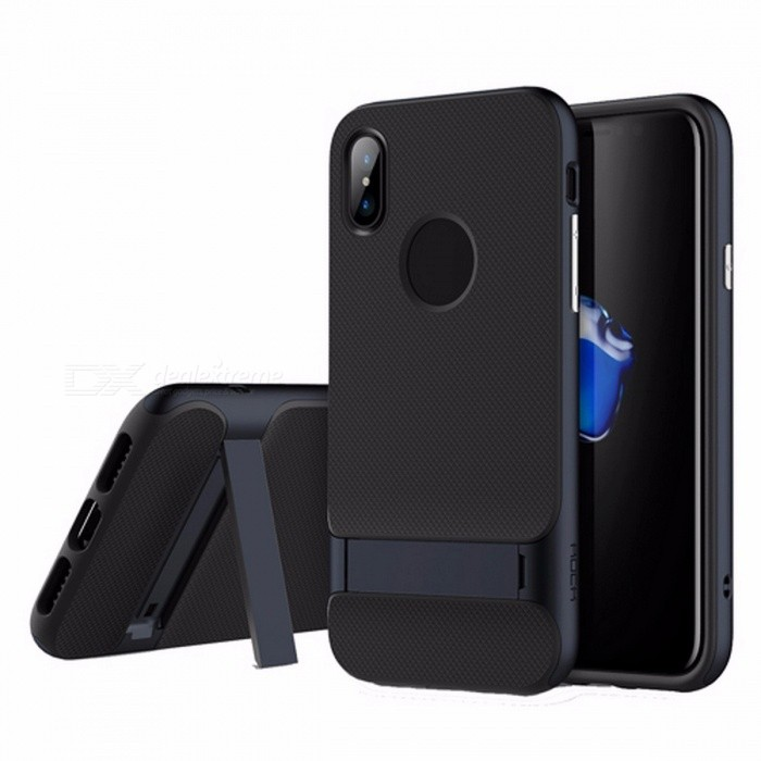 ROCK TPU+PC Anti Dropping Mobile Protective Back Cover for Apple iPhone X