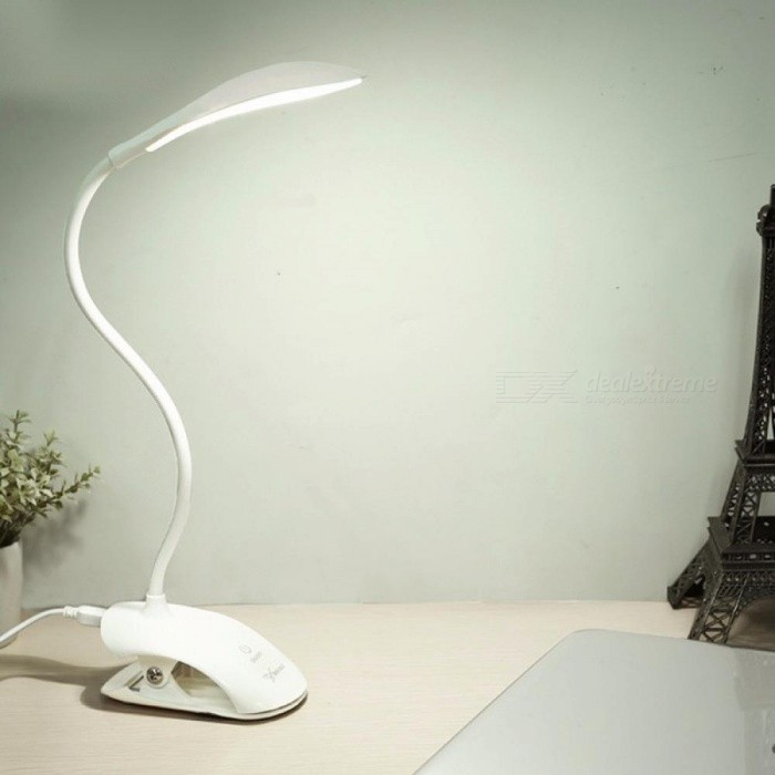 Buy Desk Lamp USB Led Table Lamp 14 LED Table Lamp With Clip Bed Reading Book Light LED Desk Lamp Table Touch 3 Modes White/0-5W with Litecoins with Free Shipping on Gipsybee.com