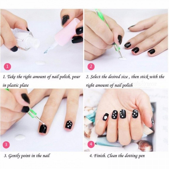 Buy 5Pcs Screw Rod Nail Tool DIY Rhinestones Dots Double Pointed Nail Art Tool Spot Drilling Line Pen Beauty Nail Care Beaut Multi with Litecoins with Free Shipping on Gipsybee.com