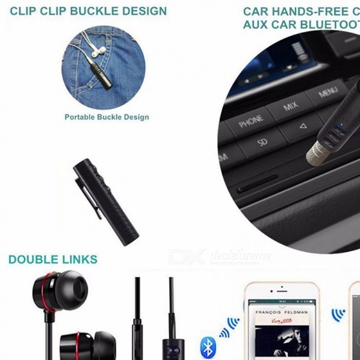 Buy Mini Bluetooth V4.2 Receiver, Wireless Hands-free Car Aux Audio Adapter Black/Bluetooth v4.2 with Litecoins with Free Shipping on Gipsybee.com