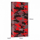 HOCO J9 10000mAh Large Capacity External Power Bank Fashionable Camouflage Design Battery Charger Supply For Smartphones Red