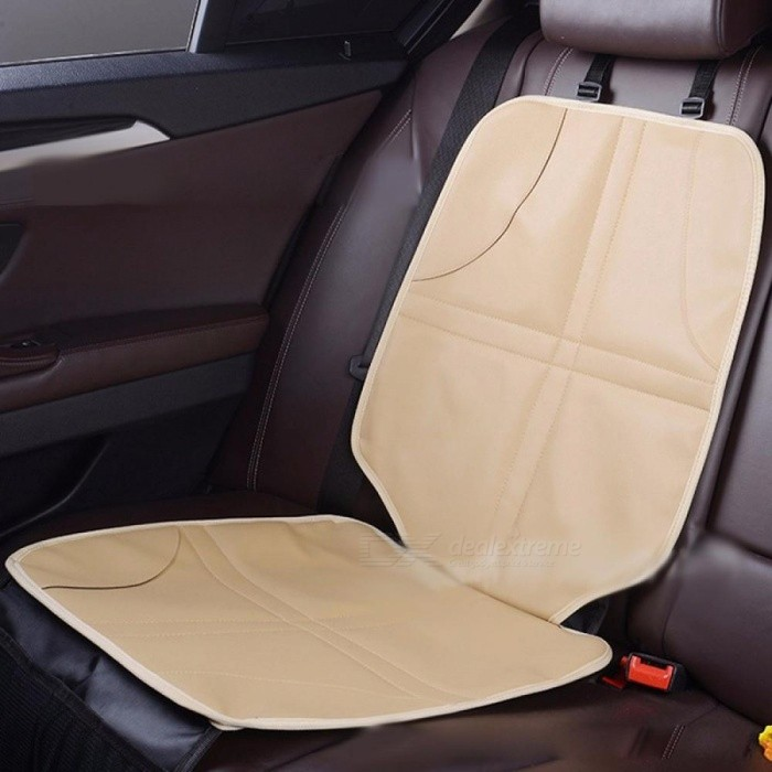 Car Seat Cover Anti-slip Wear Resistant Child Safety Seat Mat Auto Seat Abrasionproof Pad Protector Beige