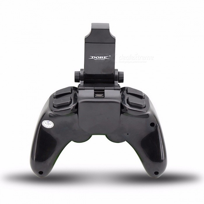 New TI-465 Wireless Android Bluetooth Gamepad DOBE Game Controller Joystick For Android IOS PC With Cell Phone Holder Black