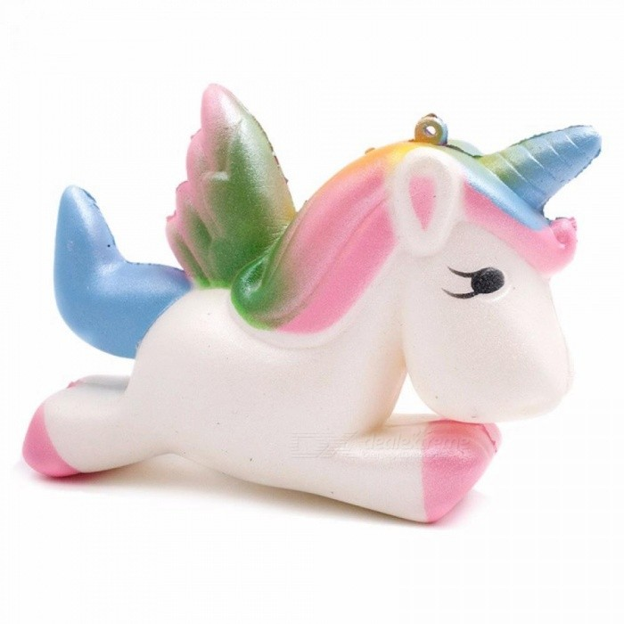 Creative Funny PU Kawaii Unicorn Squishy Slow Rising Cartoon Doll Cream Scented Decompression Stress Reliever Toy Multicolor