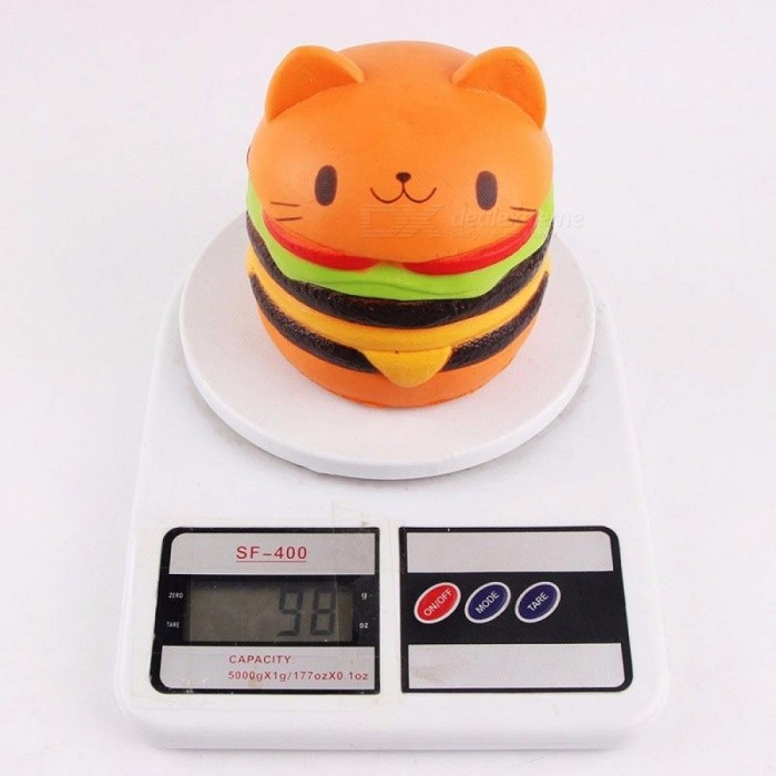 Peradix Slow Rising Cat Head Hamburger Squishy Cartoon Toy Simulation Fun Soft Cute Kids Relieves Stress Anxiety Funny Multicolor