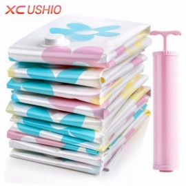 11pcsset-Thickened-Vacuum-Storage-Bag-Vacuum-Compressed-Bag-With-Hand-Pump-Reusable-Blanket-Clothes-Quilt-Storage-Bag-Clear