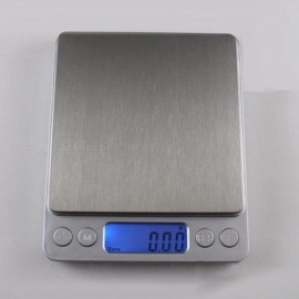 Portable Mini Electronic Food Scales Pocket Case Postal Kitchen Jewelry Weight Balanca Digital Scale With 2 Tray Grey